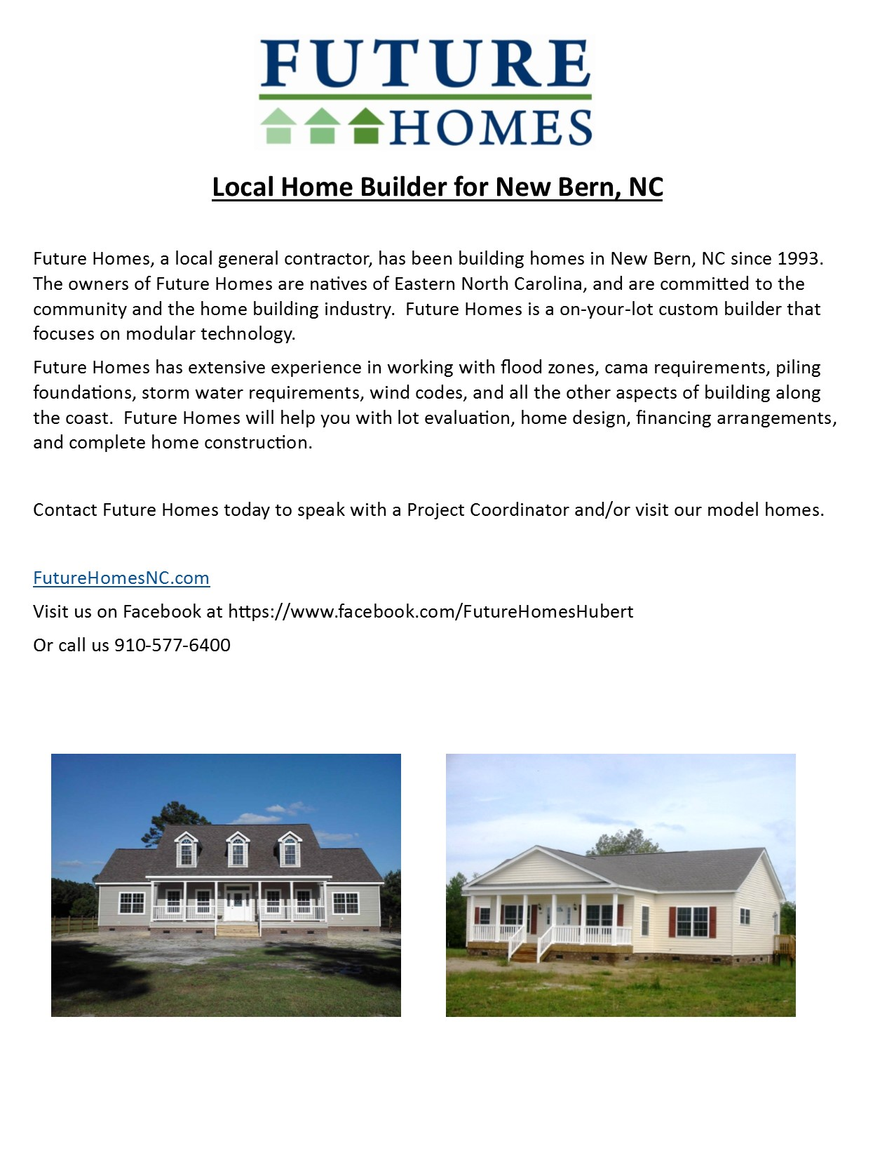 New home construction future homes for Custom homes new bern nc
