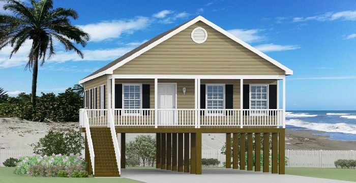 Modular homes in hampstead nc modular homes jacksonville for Beach house plans on pylons