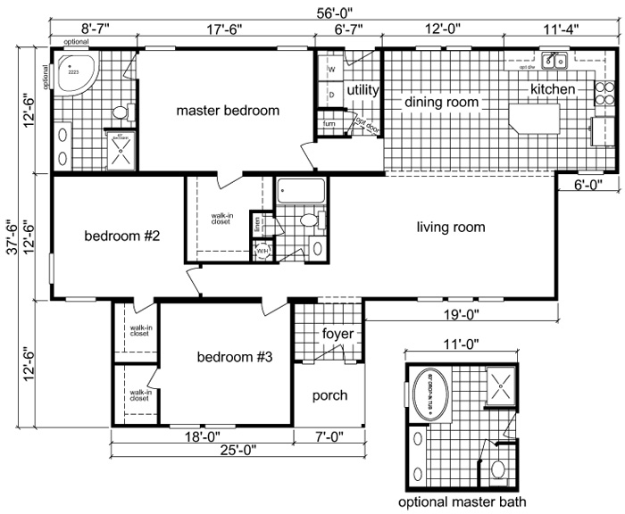 Liberty Mobile Homes Floor Plans manufactured home floor